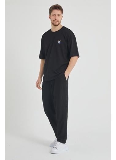 XHAN Siyah Erkek T-Shirt 1Kxe1-44794-02 Siyah